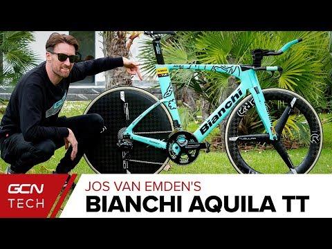 Jos Van Emden's Bianchi Aquila Time Trial Bike | Team Jumbo Visma Pro Bike