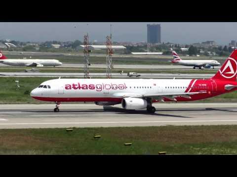 Atlasglobal Airbus A321 take off Istanbul Ataturk Airport