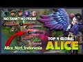 The Wizardry Teacher Alice_No1_Indonesia Ranked 4 Global Alice 'We Don't Need Tank' ~ Mobile Legends