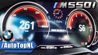 BMW M550i xDrive ACCELERATION & TOP SPEED 0-260km/h by AutoTopNL
