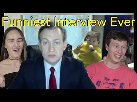 Thumbnail: Man and Woman Interrupted During BBC Interview | Head Spread | Reaction
