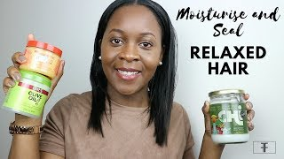 How I moisturise and seal my relaxed hair