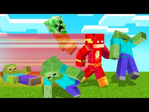 Playing As THE FLASH In MINECRAFT!
