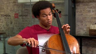 "Royal wedding cellist Sheku Kanneh-Mason performs Bach, ""No Woman No Cry"""