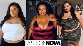 NEW VIBE! Fashion Nova Curve Try On Haul + Outfits | Plus Size Fashion