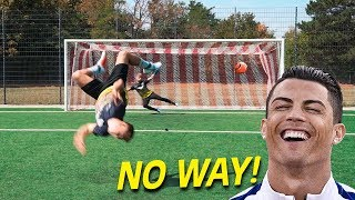 CRAZY FOOTBALL CHALLENGES vs Subscriber
