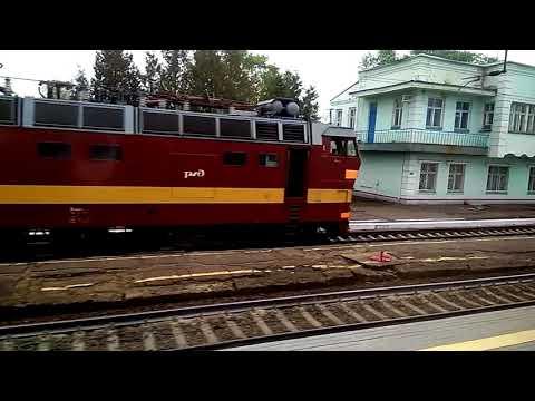 Станция Буй Северной железной дороги. Россия из окна поезда.