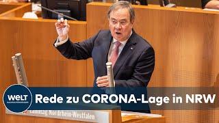 Nrw-ministerpräsident armin laschet mit seiner rede zur aktuellen corona-pandemielage in nordrhein-westphalen bei der sondersitzung im landtag.#laschet #coro...