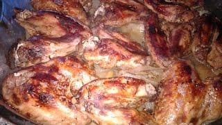 Вкусные Куриные крылья   с картошкой в духовке.