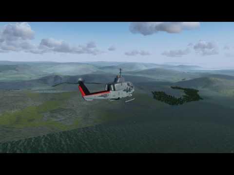 Scottish Hop #6. AH-1W, Live weather + time