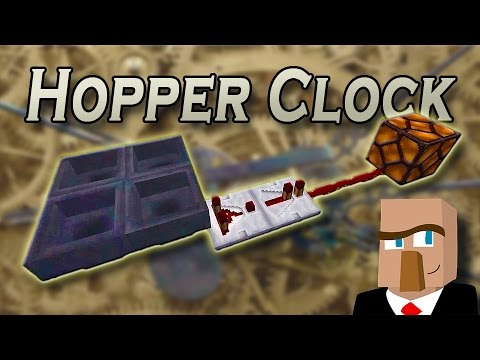 MAKE A MINECRAFT HOPPER CLOCK: It's Silent and Easy to Build!