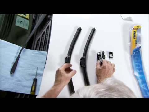 Changing windshield wipers with an adaptor