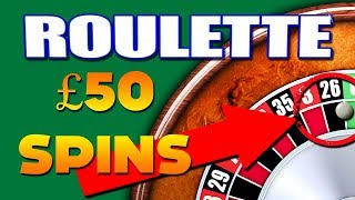 Bookies Roulette £50 Spins