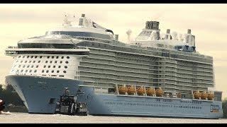 Quantum of the Seas - Das größte, jemals in Deutschland gebaute Kreuzfahrtschiff im Hafen Hamburg