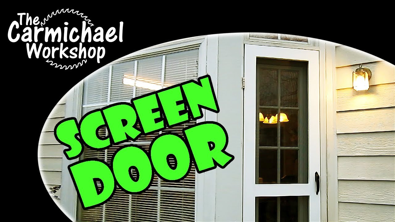 Make a Screen Door - A Kreg Jig Home Improvement Project