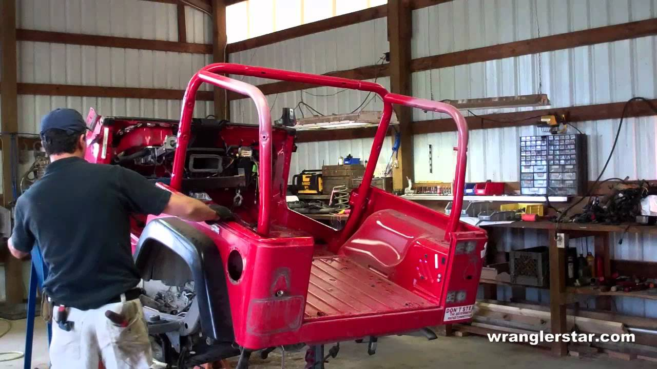 Removing Jeep Wrangler Rubicon Body Youtube