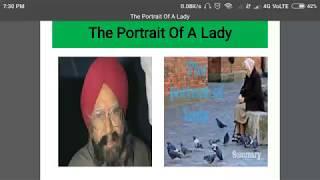 The portrait of a lady by Khushwant Singh detailed summary in Hindi/हिंदी में सारांश