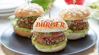 Veggie Burger Recipe | Veg Aloo Tikki Burger Recipe | Homemade Veggie Burger In Tamil