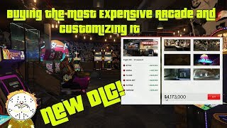 GTA Online New DLC Buying The Most Expensive Arcade Property And Customizing it, Heist Intro