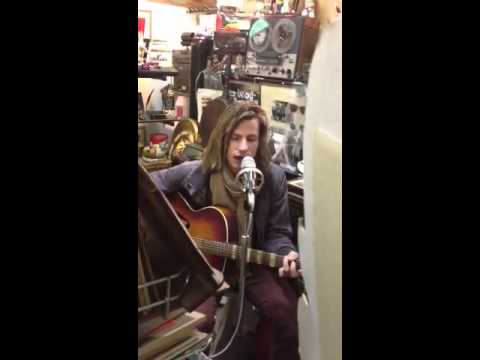 Jake in Florence record shop