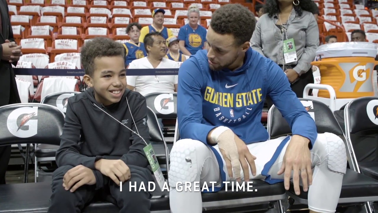 All access stephen curry meets young fan youtube all access stephen curry meets young fan m4hsunfo