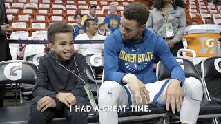 All-Access: Stephen Curry Meets Young Fan