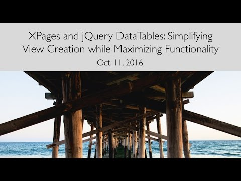 [Webinar] XPages and jQuery DataTables: Simplifying View Cre