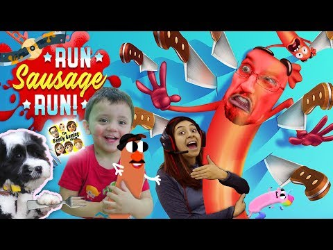 Run SAUSAGE RUN!! 🔪 Unicorn Food & Mr. Potato Head Dude ✂️ YEOUCH! (FGTEEV Funny Game w/ Shawn)