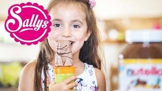 Nutella-Eis am Stiel selber machen /aus 3 Zutaten / Wassereis selber machen