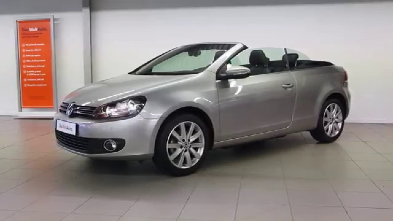volkswagen golf cabriolet occasion 1 6 tdi 105 fap carat gris tungstene 422 youtube. Black Bedroom Furniture Sets. Home Design Ideas