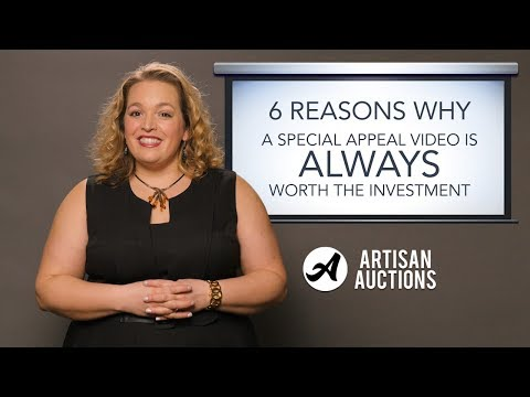 Why A Special Appeal Video Is ALWAYS Worth The Investment | Artisan Auctions