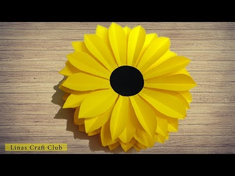 How to Make Sunflower Paper Flower | linascraftclub