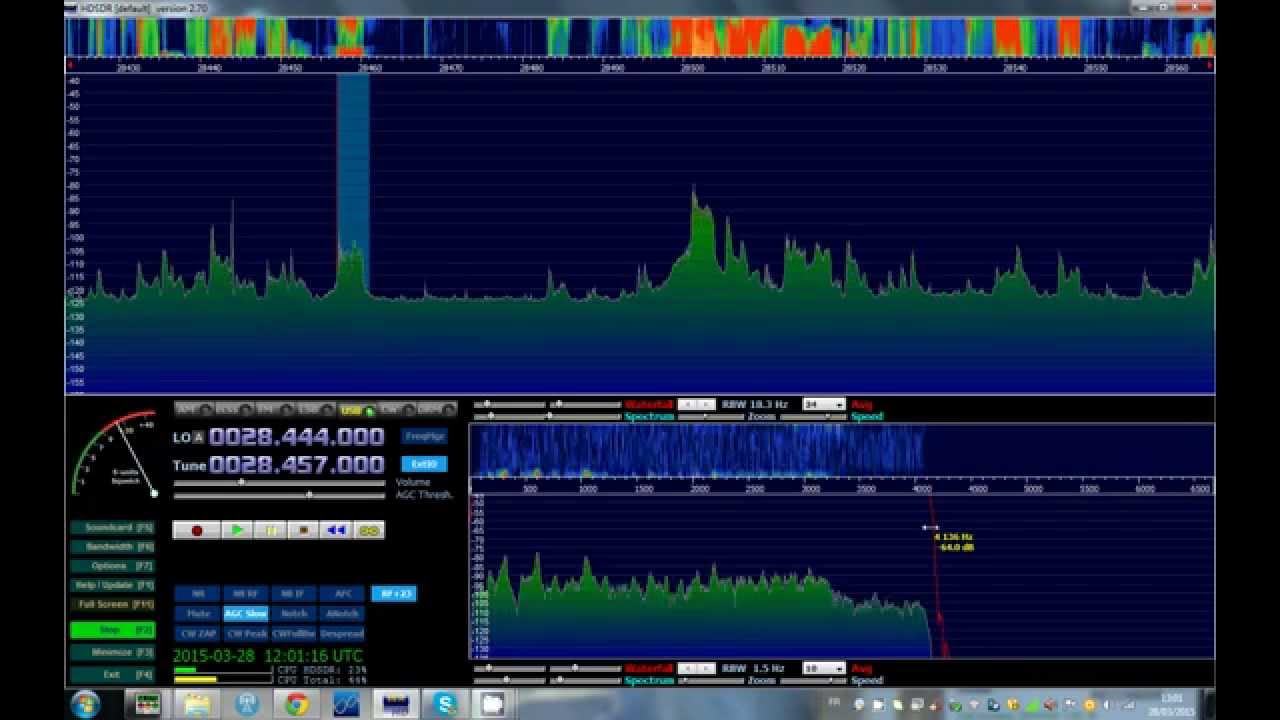 Repeat rx 27mhz -28 mhz sur sdr avec kenwood ts 870 by f4