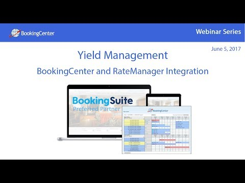 Webinar: Yield Management - BookingCenter and RateManager Integration