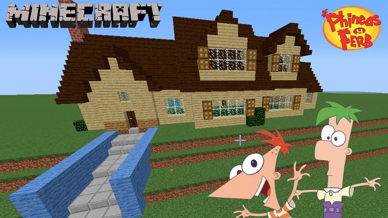 C mo construir la casa de phineas y ferb minecraft - Construcciones de casas ...