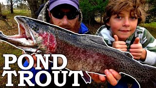 NEW FISH for our POND! | FISHING Trout at Lyndon Fishing Pond