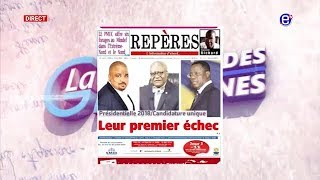 LA REVUE DES GRANDES UNES DU LUNDI 25 JUIN 2018 EQUINOXE TV