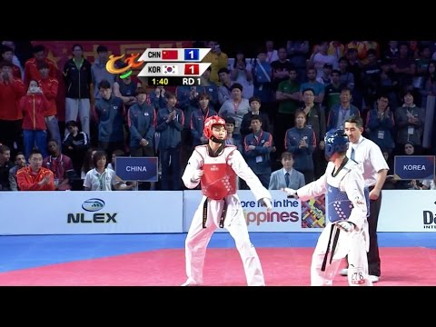 Male's Semi-Finals: China vs. Korea I 22nd Asian Taekwondo Championships