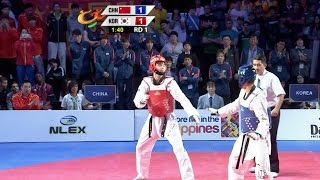 Male -74 kg Semifinal: China vs. Korea I 22nd Asian Taekwondo Championships