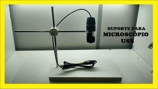 Suporte para microscópio usb O MELHOR DO YT