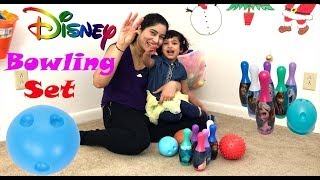 Disney Bowling Set Indoor Outdoor Fun Children Games. Kid Friendly and Funny Family Game toys review