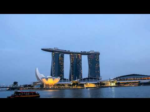 Marina Bay Sands Singapore   Time lapse HD