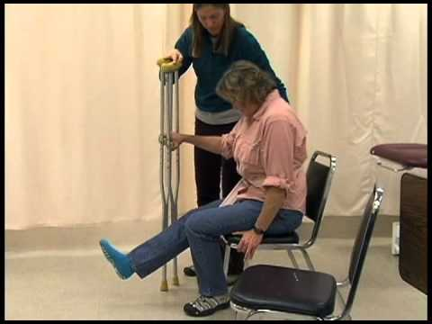Crutch Gait Training: Physical Therapy Assistant Skills Video #1