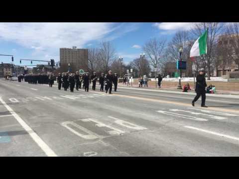 Massachusetts Maritime Academy, 7th Co at Providence RI St. Patrick's Day Parade, 3/18/17