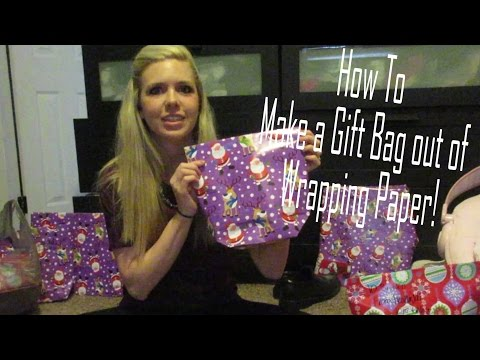 How To  Make a Gift Bag out of  Wrapping Paper!
