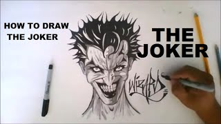 DRAWING A CRAZY JOKER - SPEED ART - THE PURGE ANNOUNCEMENT (Remix) Happy Halloween