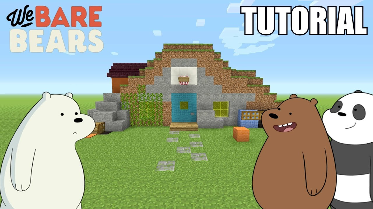 minecraft tutorial how to make the we bare bears cave. Black Bedroom Furniture Sets. Home Design Ideas