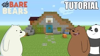 """Minecraft Tutorial: How To Make The """"We Bare Bears"""" Cave / House!! """"We Bare Bears"""" (Survival House)"""