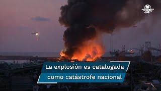 """El gobernador Marwan Abboud afirmó que hay al menos 10 bomberos desaparecidos; """"había un incendio, los bomberos fueron a apagarlo; entonces ocurrió la explosión y desde entonces están desaparecidos, los estamos buscando"""""""