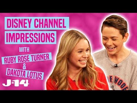 Ruby Rose Turner and Dakota Lotus Do Disney Channel Impressions